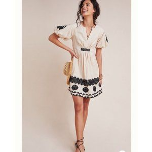 Anthropologie Orla Embroidered Mini Dress NWT